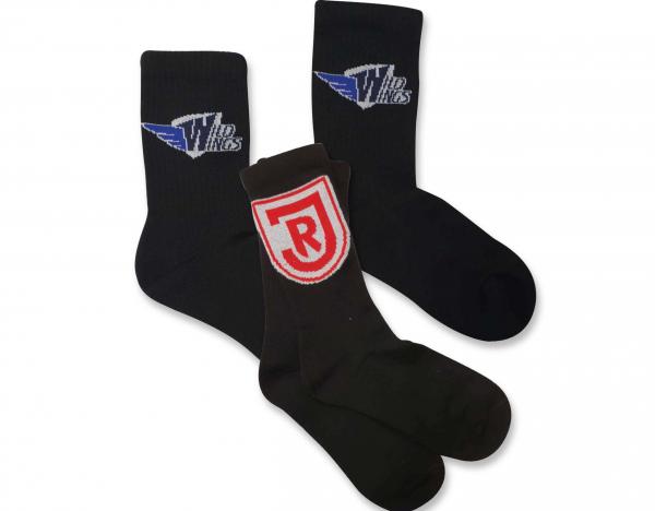 Tennis-Socken inkl. max 5-farbiges Logo eingestrickt (Umsetzbarkeit vorausgesetzt), mind. 25 Paar pe