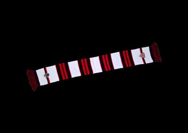 VIP Schal, inkl. 2 Bestickungen á 60 mm, ca. 145x17 cm zzgl. Fransen, 100 % Polyacryl