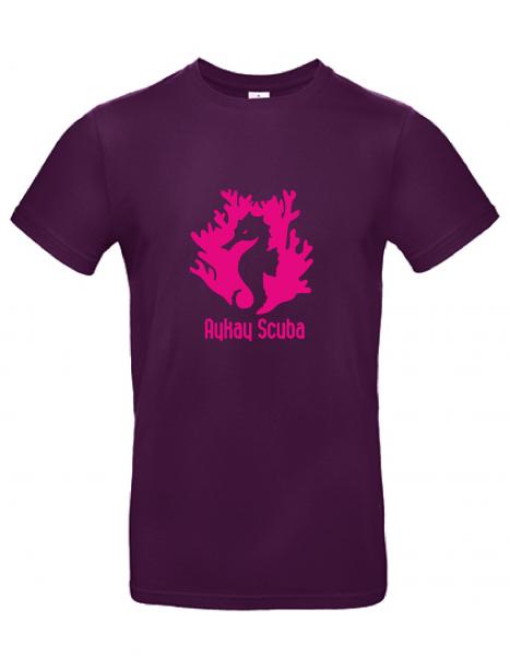 AyKay Scuba T-Shirt #E190 bordeaux