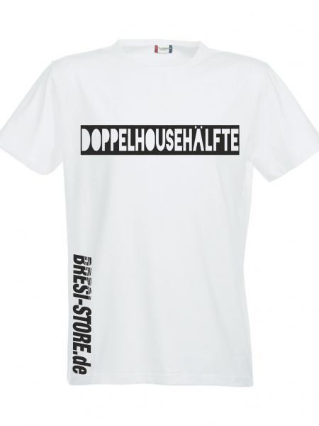 """""""Doppelhousehälfte"""" Premium T-Shirt weiß"""
