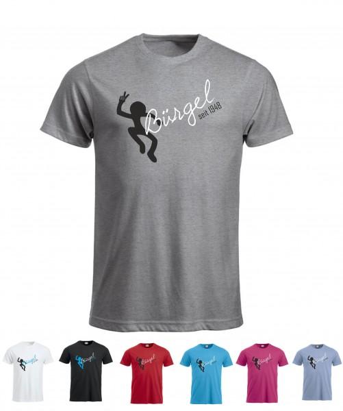 Bürgel Motiv T-Shirt (Strichmännchen)